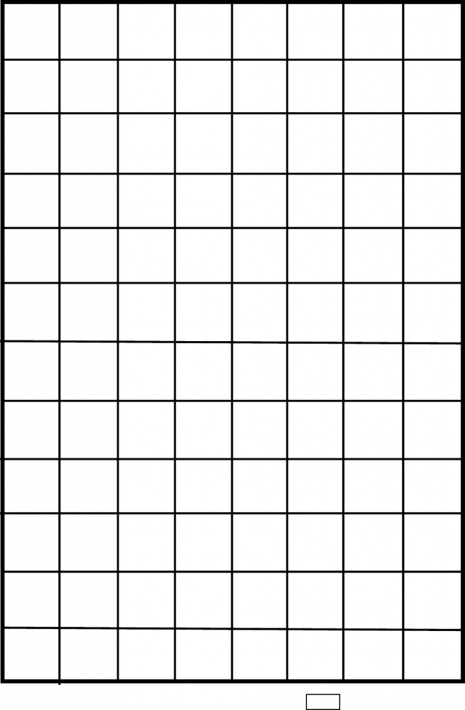 "1"" One Inch Graph Paper"